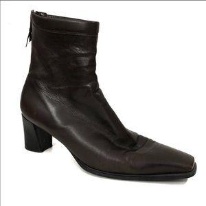 Stuart Weitzman Brown Leather Bootie